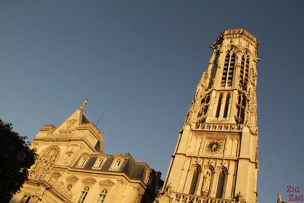 Saint Germain l'Auxerrois church, paris - facade 2