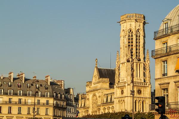 Saint Germain l'Auxerrois church, paris - facade 1