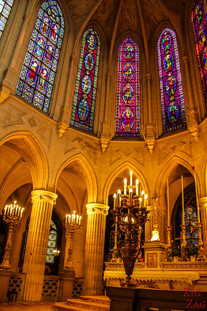 Saint Germain l'Auxerrois church, paris - Stained glass 4