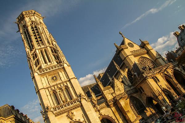Saint Germain l'Auxerrois church, paris - facade 4