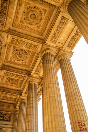 under the columns of Saint Sulpice, Paris