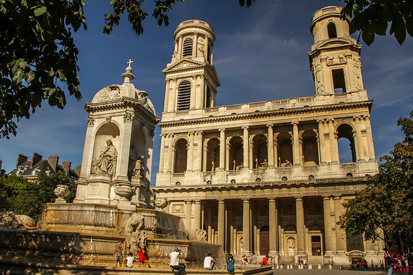 Fountain in front of Saint Sulpice, Paris