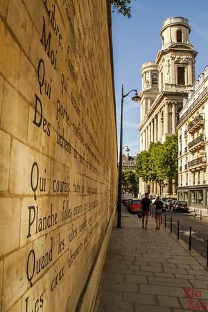 Mural poem near Saint-Sulpice church, Paris 2