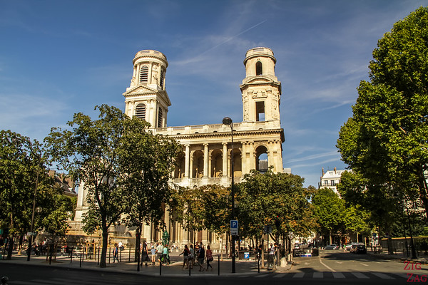 The place in front of Saint Sulpice, Paris