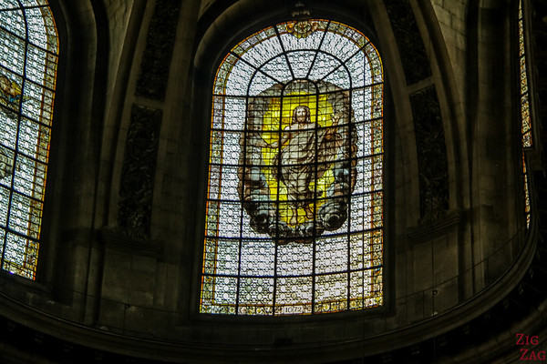 Stained glass of Saint Sulpice, Paris