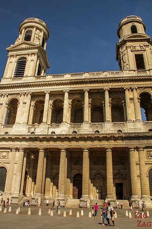 the facade of Saint Sulpice, Paris