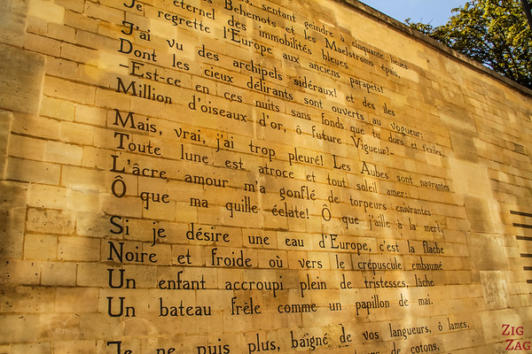 Mural poem near Saint-Sulpice church, Paris 3