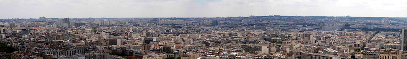 Paris, from the 2nd level observation deck of the Eifel tower.