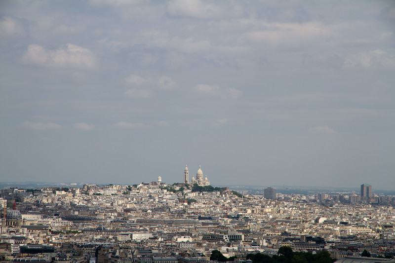 Montmartre as seen from second deck of Eiffel Tower