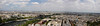 Panorama of Paris from 2nd Floor of Eiffle Tower