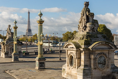 The Eiffel Tower from Place de la Concorde