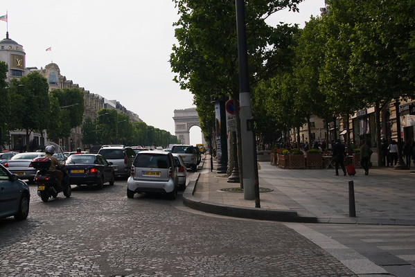 Champs-Élysées with the Arc de Triomph in the background