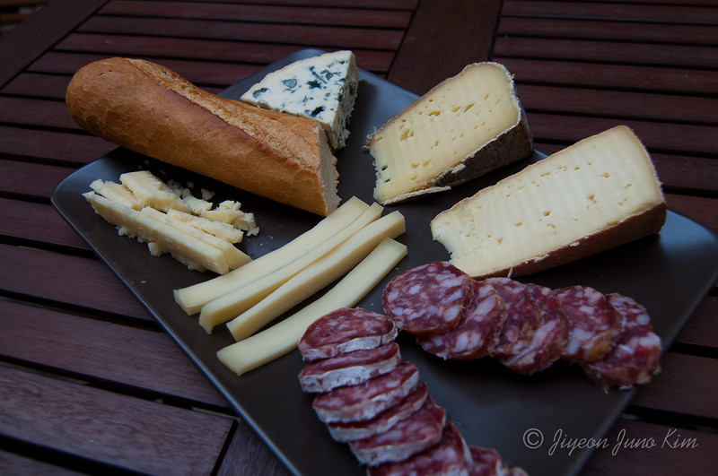 Having Cheese and meat in Paris