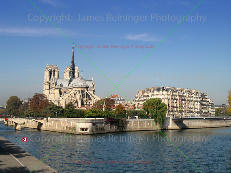 Norte Dame on the Seine <br /> Paris, France