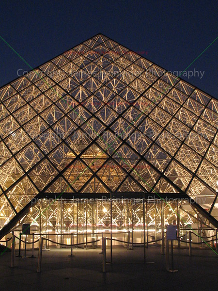 Louvre Pyramid at Night <br /> Paris, France<br /> <br /> To see more pictures of France, click on the link below.