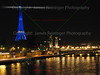 Eiffel Tower in Blue <br /> <br /> To see more pictures of France, click on the link below.