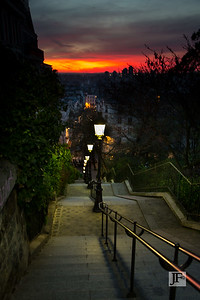 Steps down from Montmartre