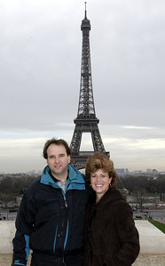 Zevy and Jody at the Eiffel Tower