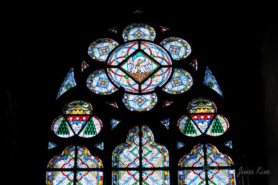 Stained glass of Notre Dame de Paris