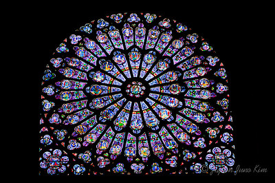 Stained glass of Notre Dame de Paris