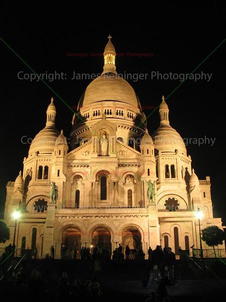 Sacred Heart at Night <br /> Paris, France