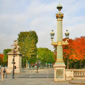 Beautiful lamppost at Place de la Concorde.