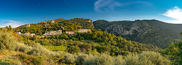 The whole village and 16th century castle. (5 frame pano stitched in Photoshop)