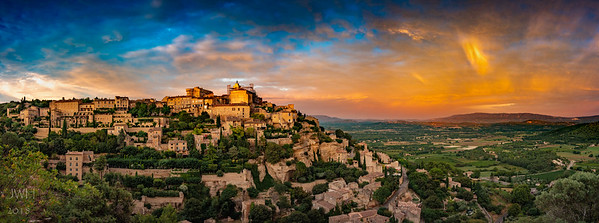 Glowing Gordes and the Luberon Plain