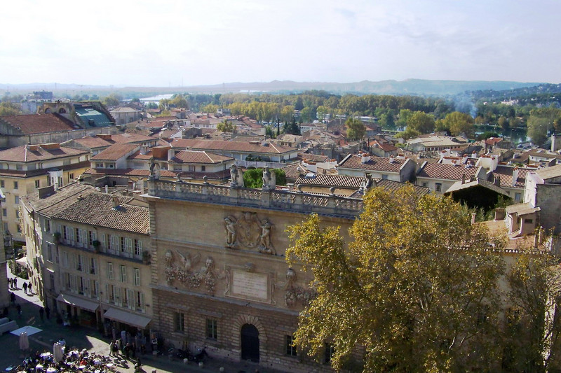 Avignon and the river valley from atop the Palais des Papes