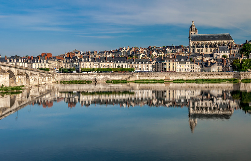 Loire and Cathedral, Blois
