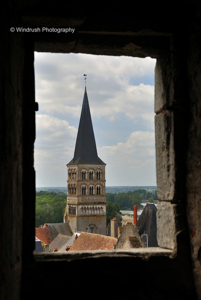 210 Bell tower of Priory Church from the town ramparts, La Charité-sur-Loire