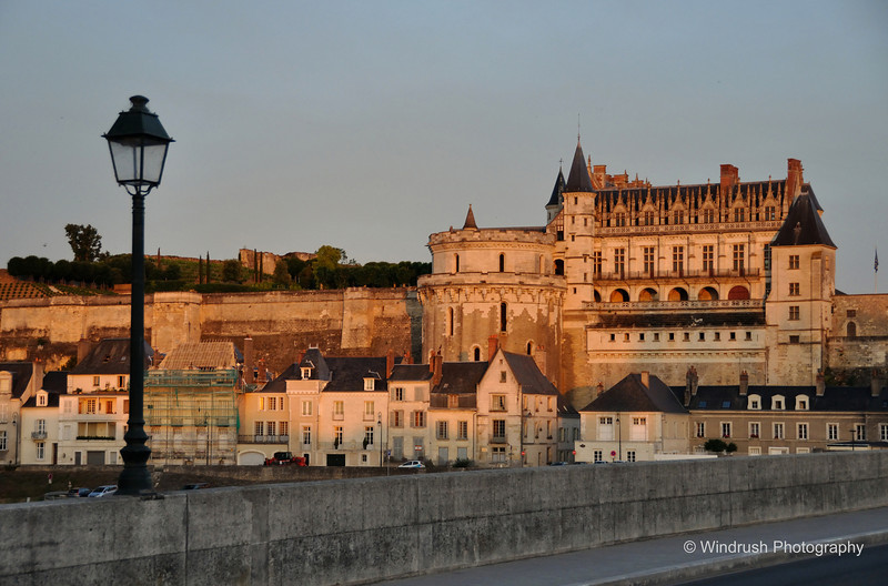 060 Chateau, Amboise, Sunset