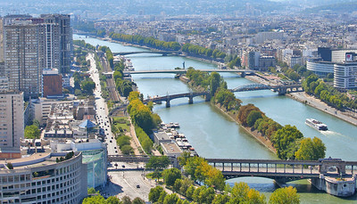 Another one of the Seine River - sorry I can't help myself - the island in the Seine is named Allee des Cygnes Islet