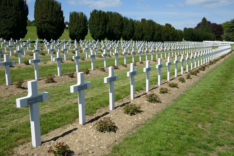 "<p align=""left"">In front of the monument, and sloping downhill, lies the largest single French military cemetery of the First World War with 16,142 graves. It was initiated in 1923 by Verdun veteran André Maginot, who would later design the Maginot Line.</p>"