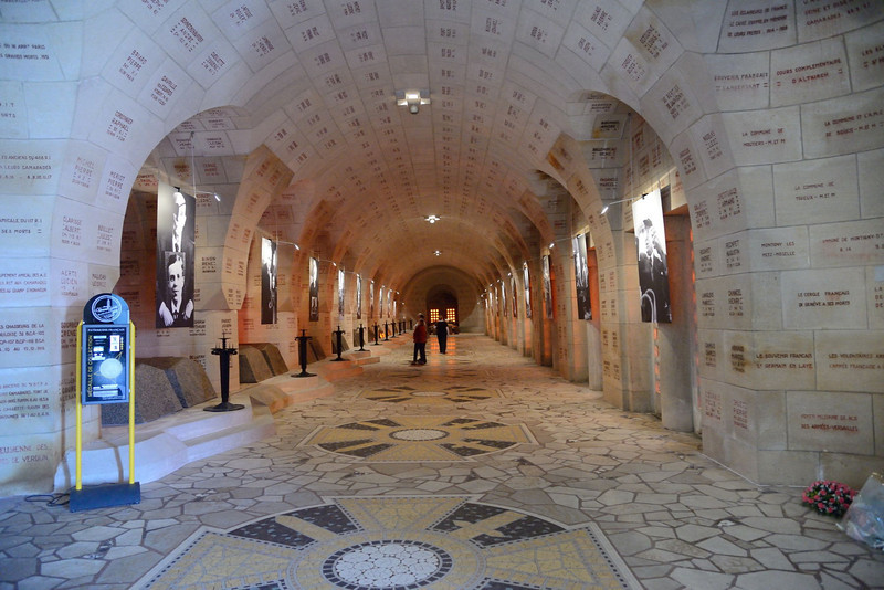 The interior of the ossuary.
