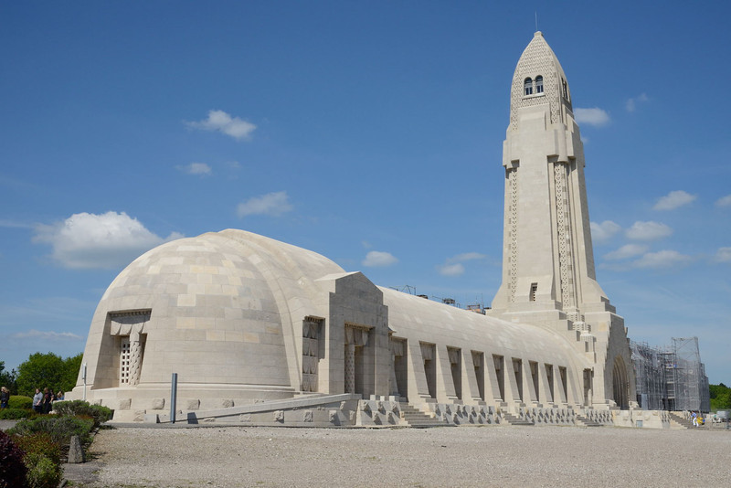 The Douaumont ossuary viewed from the south.