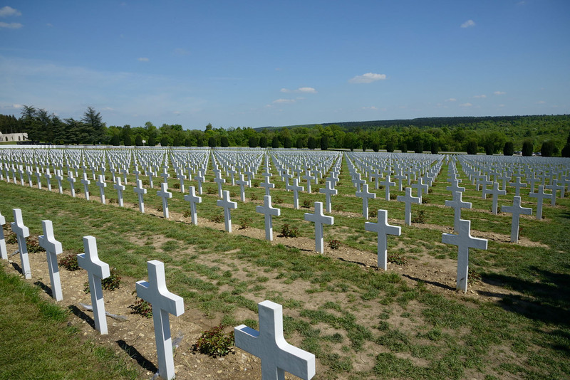 """<p align=""""left"""">In front of the monument, and sloping downhill, lies the largest single French military cemetery of the First World War with 16,142 graves. It was initiated in 1923 by Verdun veteran André Maginot, who would later design the Maginot Line.</p>"""