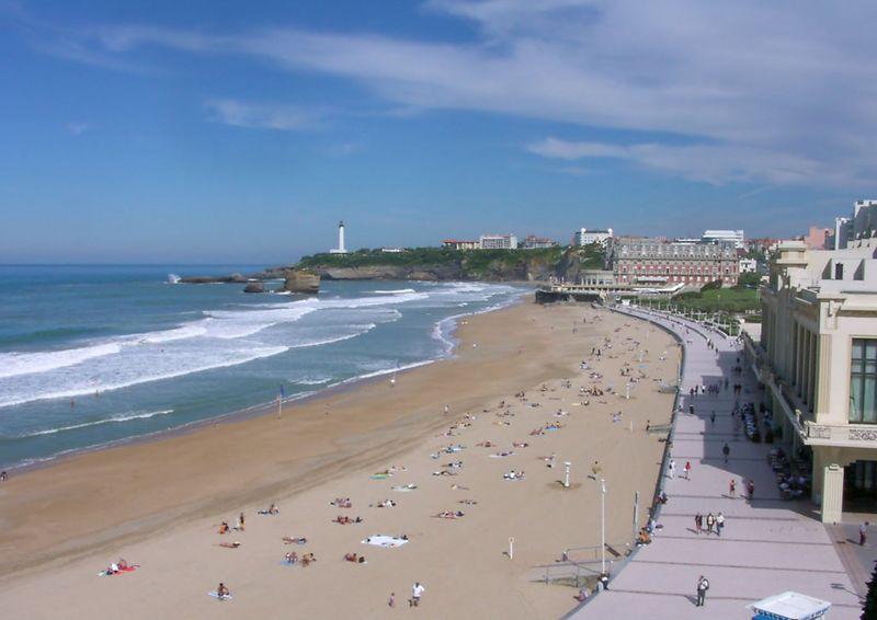 Beach at Biarritz