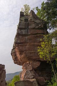 Climbing at Windstein in the Vogesen