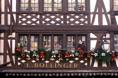 Strasbourg with christmas decoration