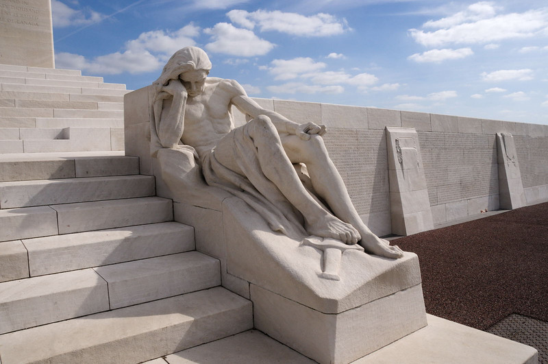 The sculpture represents the mourning fathers of Canada's war dead.