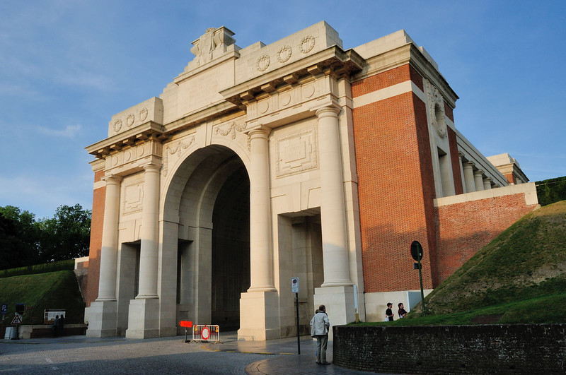 The Menin Gate Memorial from the south west