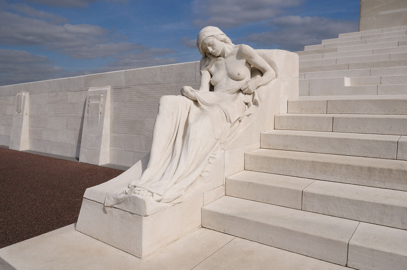 The sculpture represents the mourning mothers of Canada's war dead.