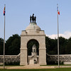 Castor and Pollux atop the Delville Wood Memorial.