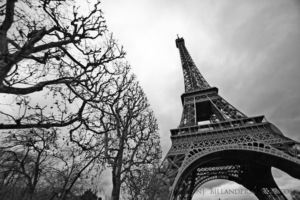 Eiffel Tower.  Paris, France.