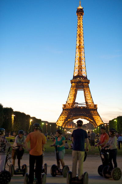 Segway tours and Eiffel Tower.