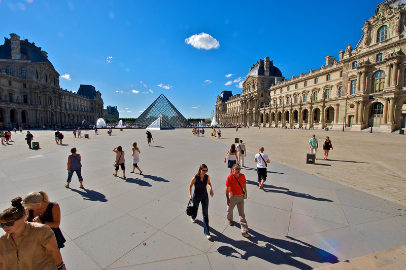 One courtyard of many at the Musee du Louvre.