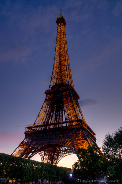 Classic view of the Eiffel Tower.