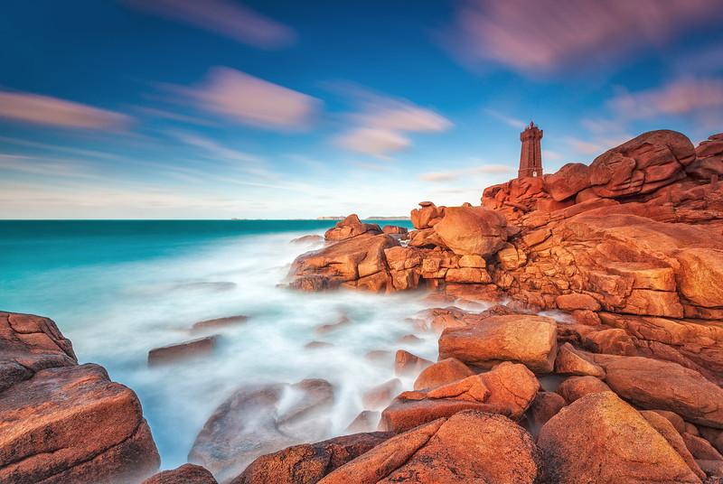 Men Ruz Lighthouse @ Ploumanac'h (Brittany)