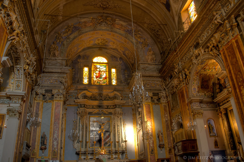 Interior of Church of Saint Jacques le Majeur, in Old Nice.